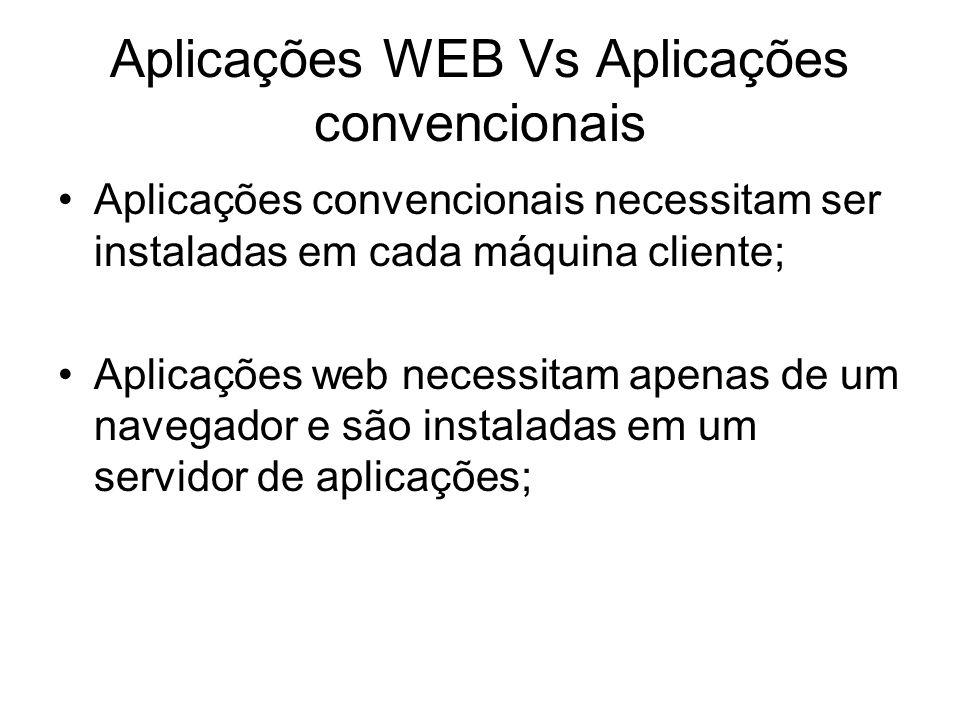 Aplicações WEB Vs Aplicações convencionais