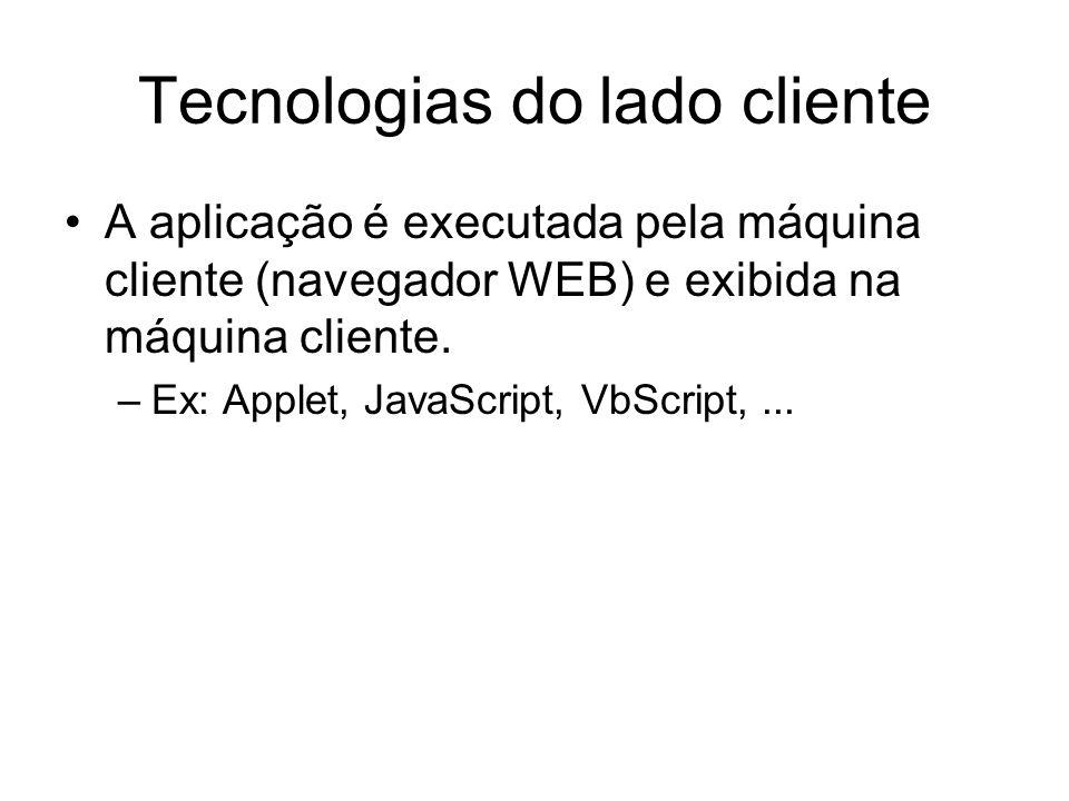 Tecnologias do lado cliente