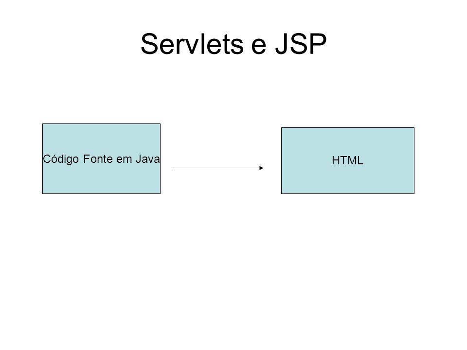 Servlets e JSP Código Fonte em Java HTML