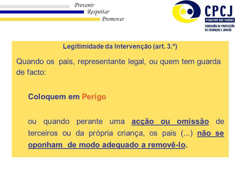 Legitimidade da Intervenção (art. 3.º)