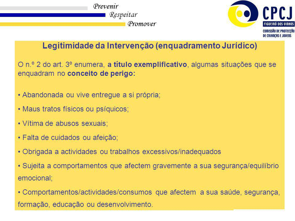 Legitimidade da Intervenção (enquadramento Jurídico)
