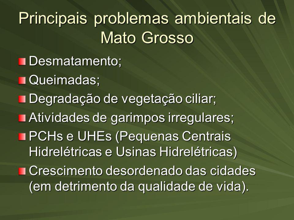 Principais problemas ambientais de Mato Grosso