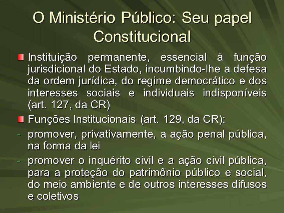 O Ministério Público: Seu papel Constitucional