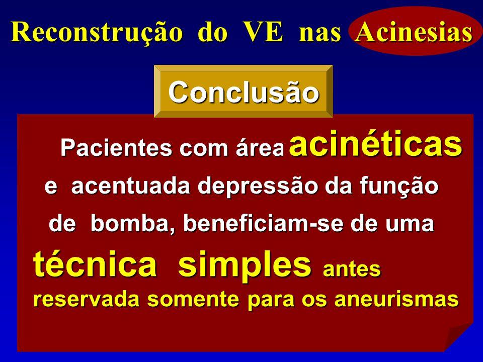 Reconstrução do VE nas Acinesias