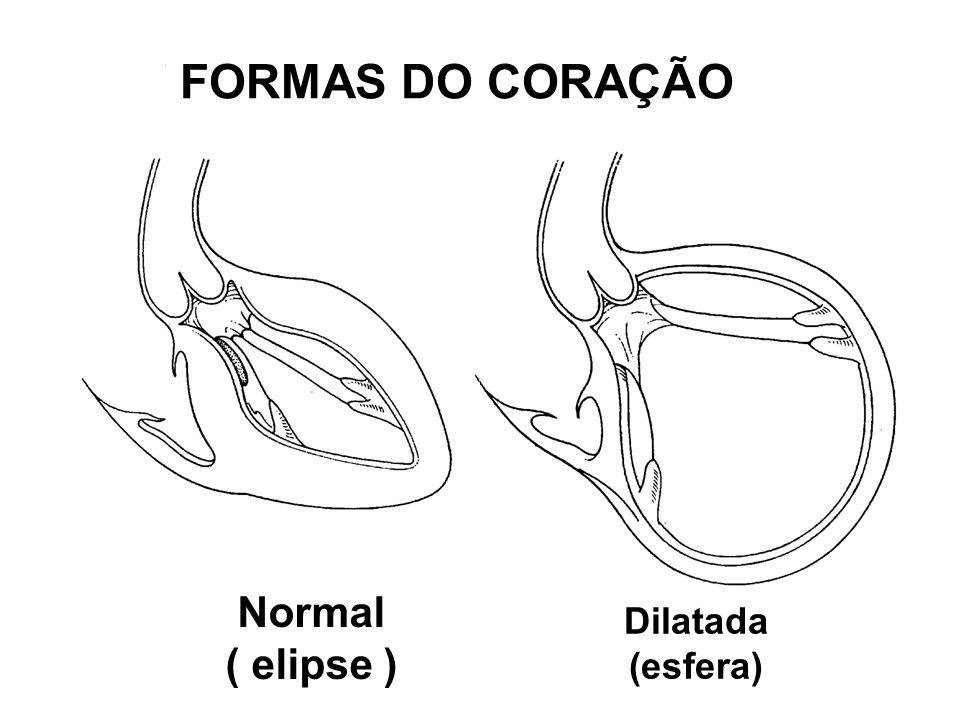FORMAS DO CORAÇÃO Normal ( elipse ) Dilatada (esfera)