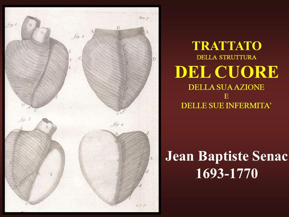 DEL CUORE Jean Baptiste Senac 1693-1770 TRATTATO DELLA SUA AZIONE