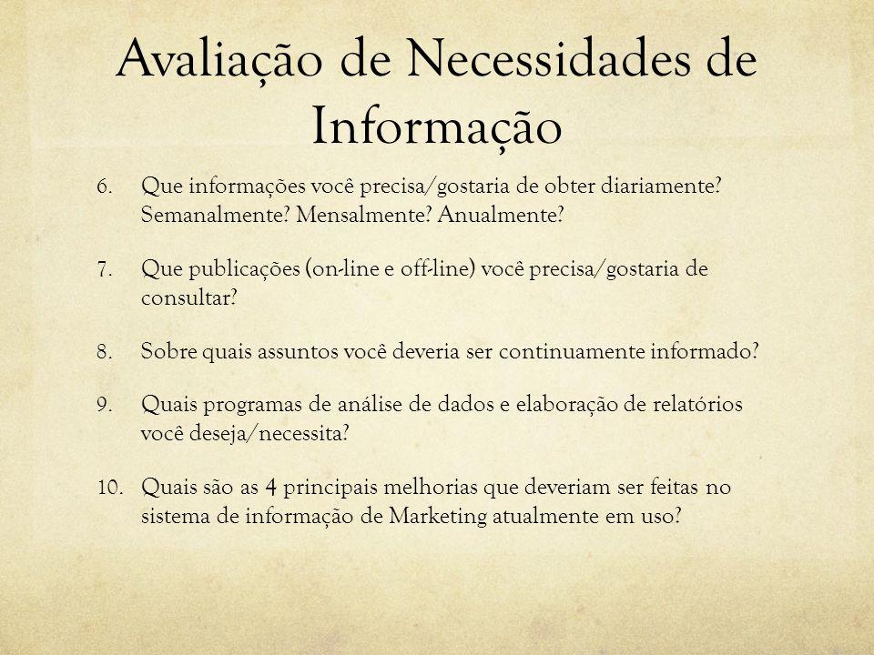 Avaliação de Necessidades de Informação