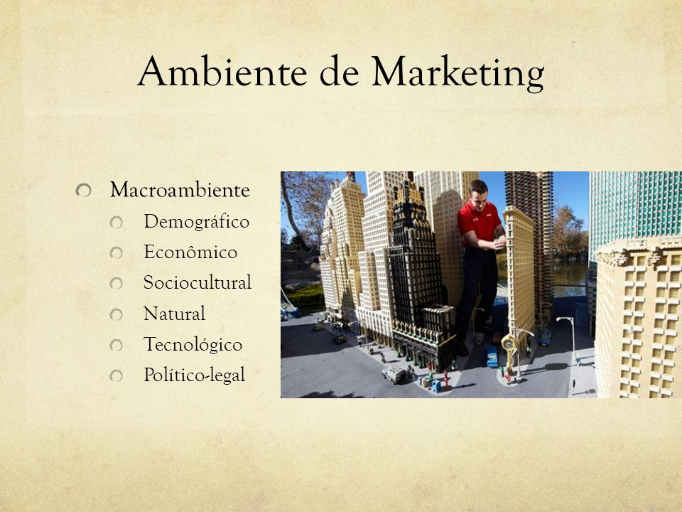 Ambiente de Marketing Macroambiente Demográfico Econômico