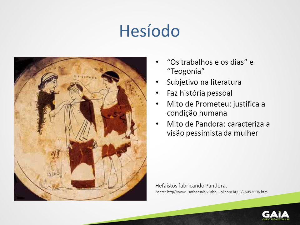 Hesíodo Os trabalhos e os dias e Teogonia Subjetivo na literatura