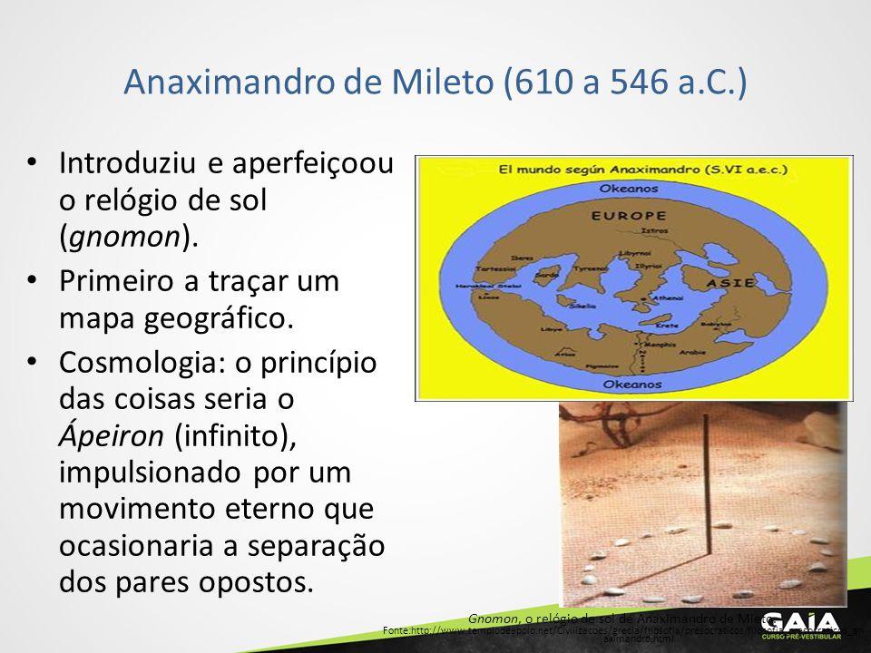 Anaximandro de Mileto (610 a 546 a.C.)