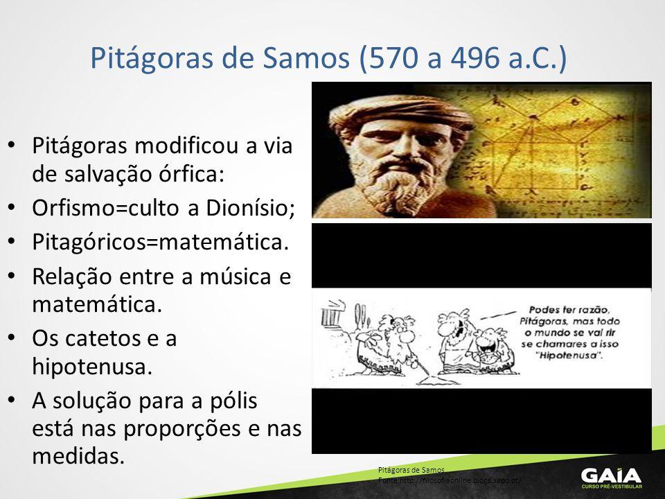 Pitágoras de Samos (570 a 496 a.C.)