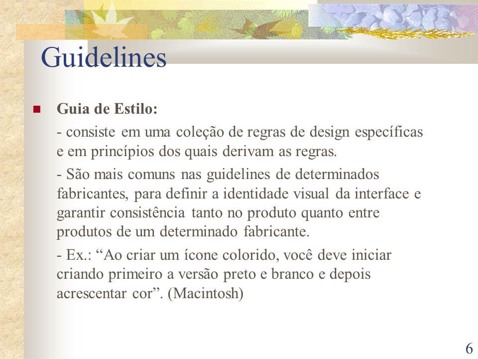 Guidelines Guia de Estilo: