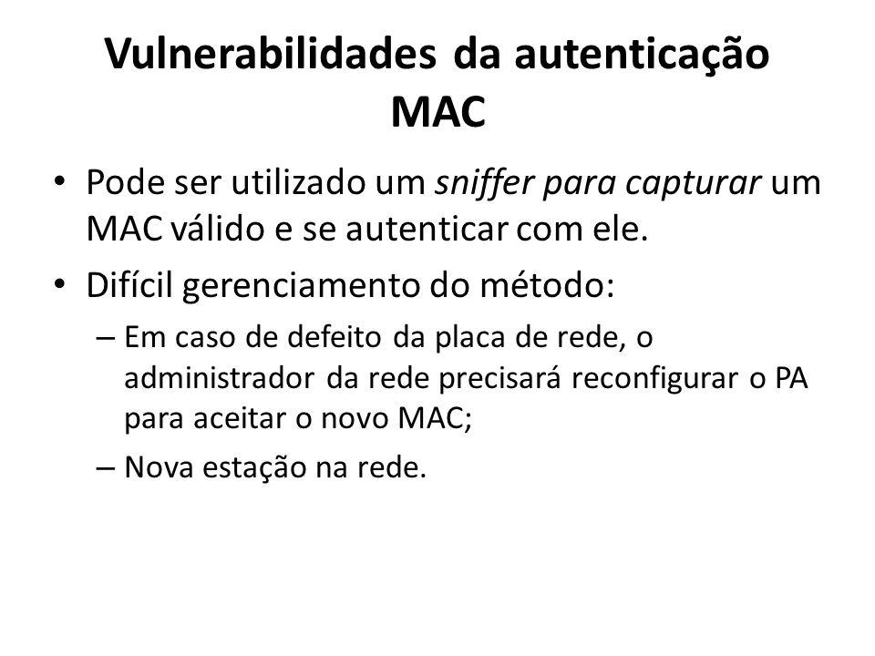 Vulnerabilidades da autenticação MAC