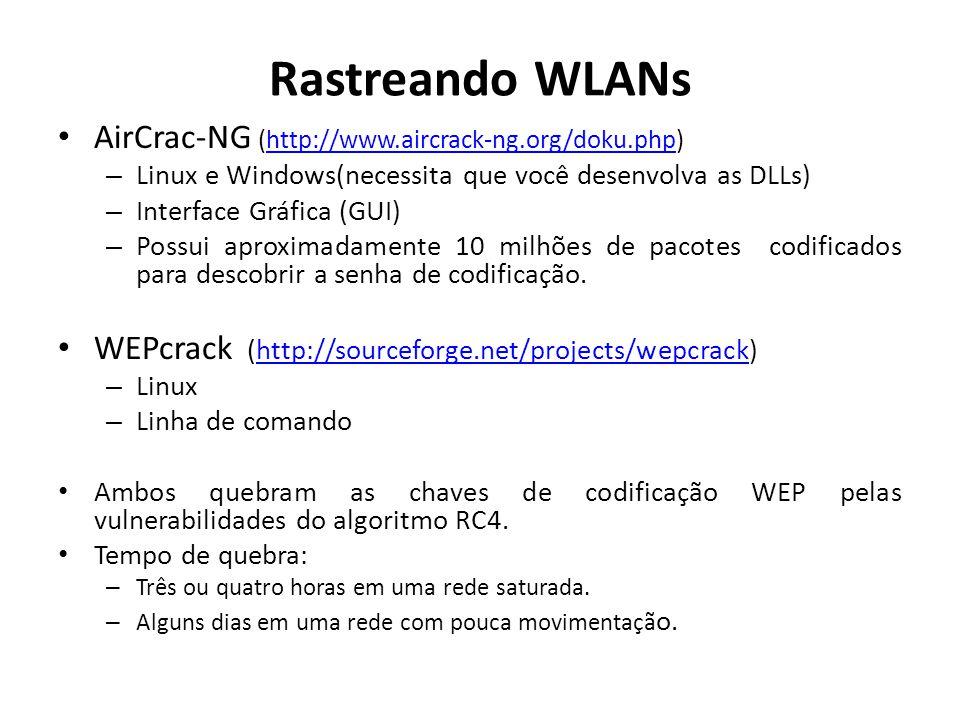 Rastreando WLANs AirCrac-NG (http://www.aircrack-ng.org/doku.php)