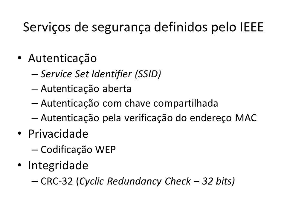 Serviços de segurança definidos pelo IEEE