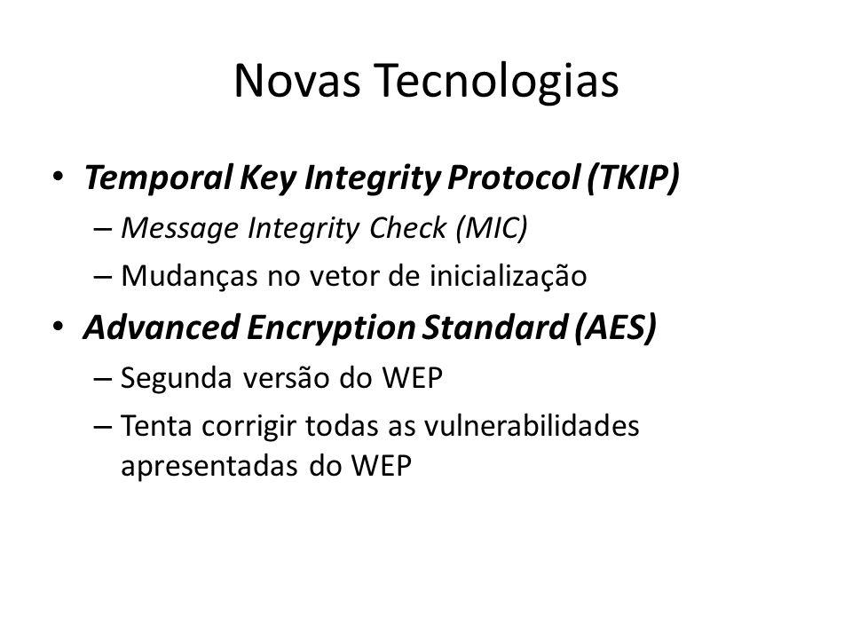 Novas Tecnologias Temporal Key Integrity Protocol (TKIP)