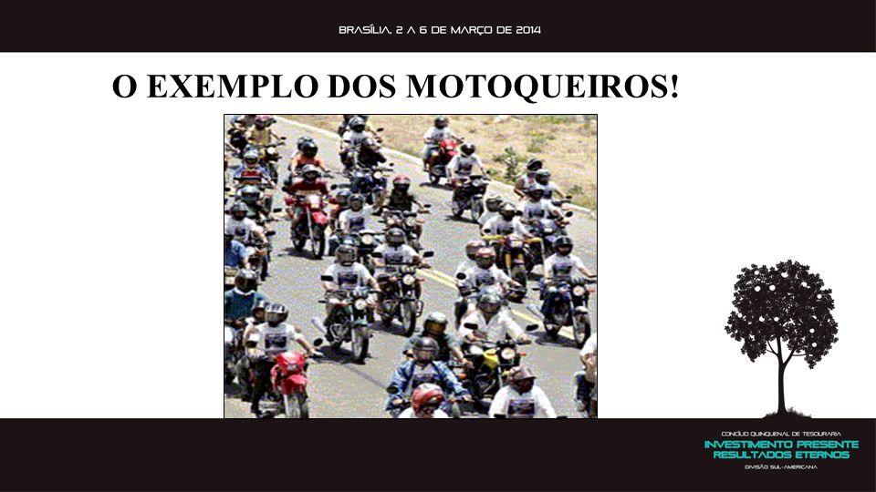 O EXEMPLO DOS MOTOQUEIROS!