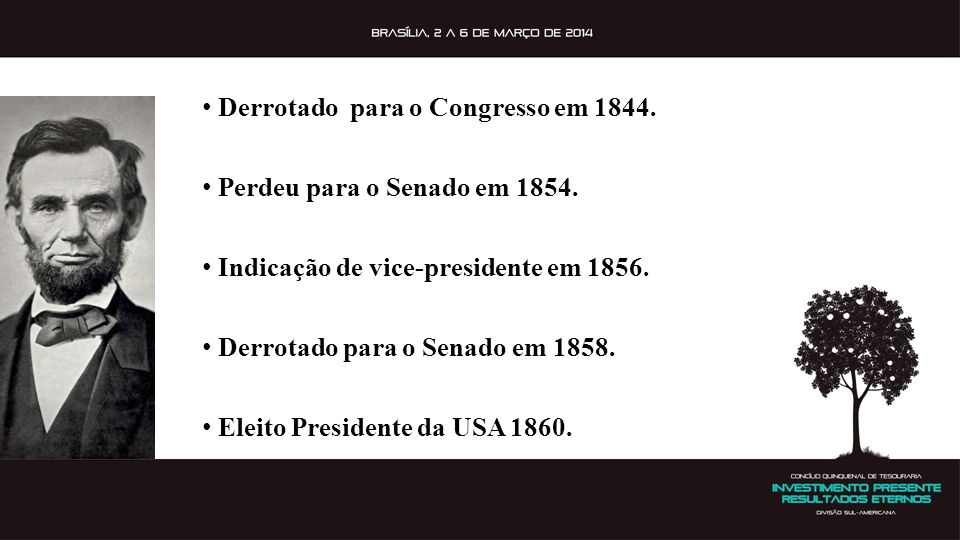 Derrotado para o Congresso em 1844.