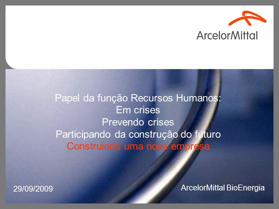 Convivendo com mudanças: Arcelor Mittal Florestas – Belgo Arcelor Mittal Jequitinhonha – Acesita Negócio Florestal Arcelor Mittal ArcelorMittal BioEnergia
