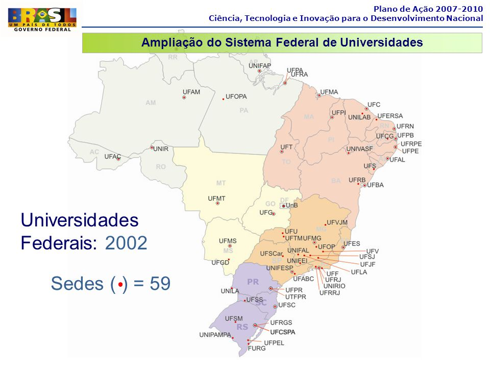 Ampliação do Sistema Federal de Universidades