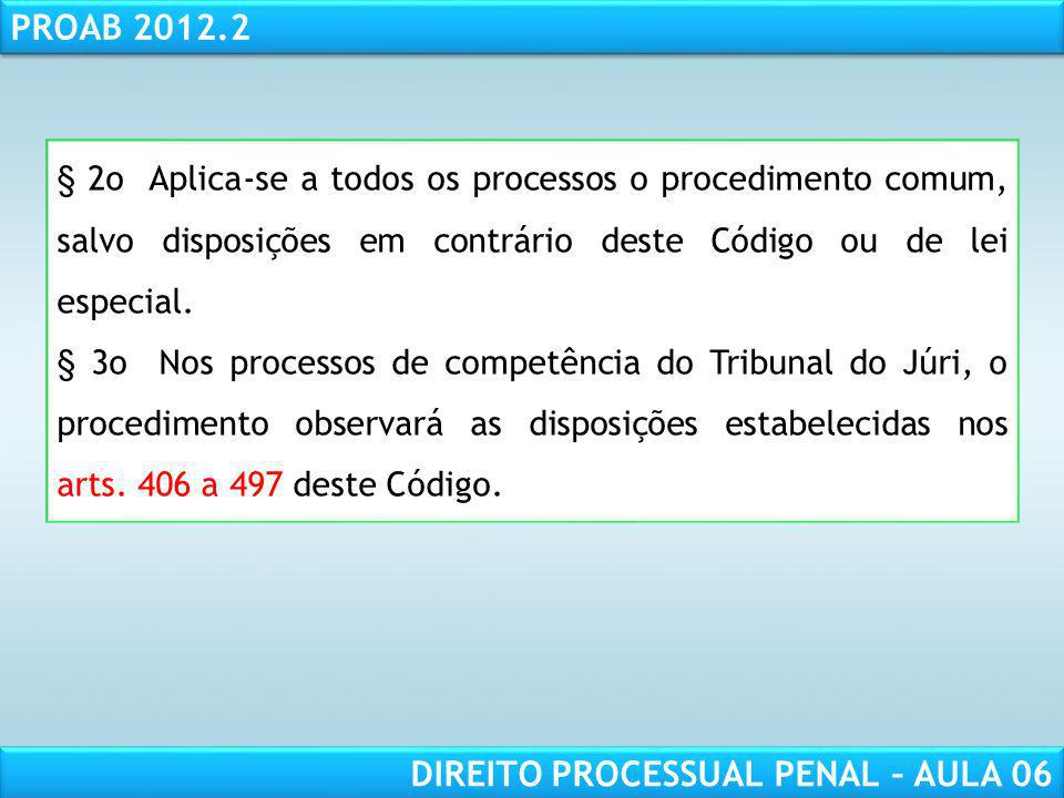 § 2o Aplica-se a todos os processos o procedimento comum, salvo disposições em contrário deste Código ou de lei especial.