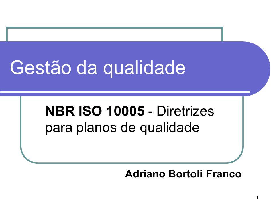 NBR ISO 10005 - Diretrizes para planos de qualidade