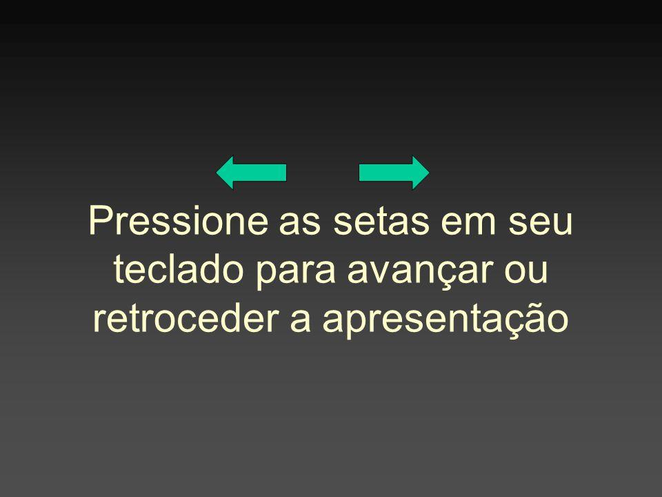 Pressione as setas em seu teclado para avançar ou retroceder a apresentação