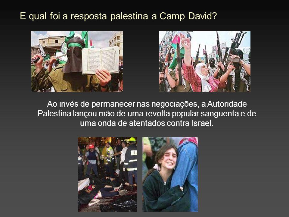 E qual foi a resposta palestina a Camp David