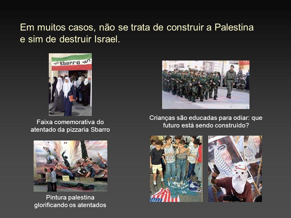 Em muitos casos, não se trata de construir a Palestina e sim de destruir Israel.