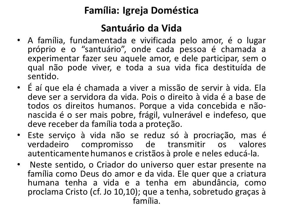 Família: Igreja Doméstica