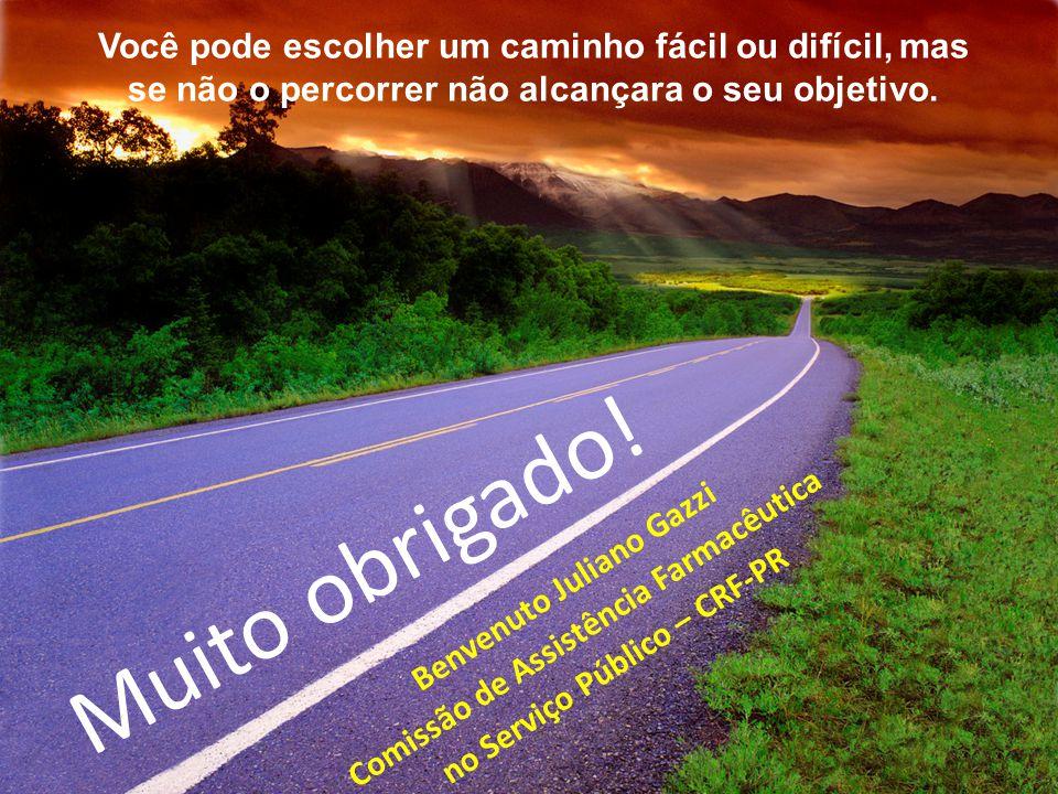 Você pode escolher um caminho fácil ou difícil, mas se não o percorrer não alcançara o seu objetivo.