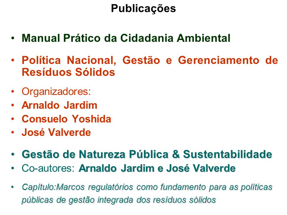 Manual Prático da Cidadania Ambiental