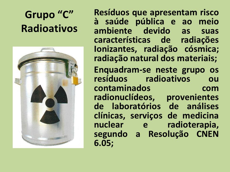 Grupo C Radioativos