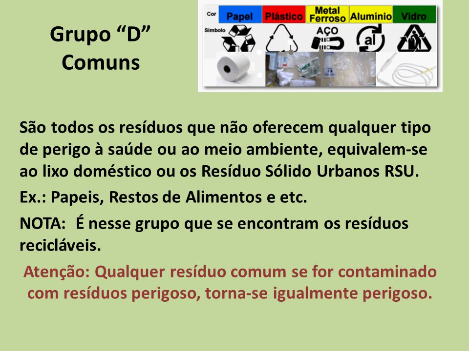Grupo D Comuns