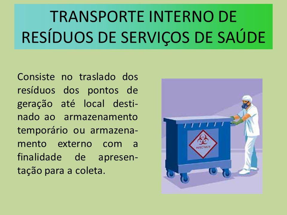 TRANSPORTE INTERNO DE RESÍDUOS DE SERVIÇOS DE SAÚDE