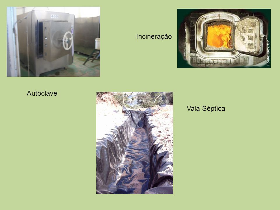 Incineração Autoclave Vala Séptica