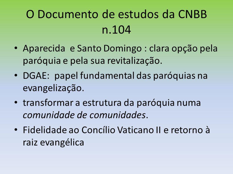 O Documento de estudos da CNBB n.104