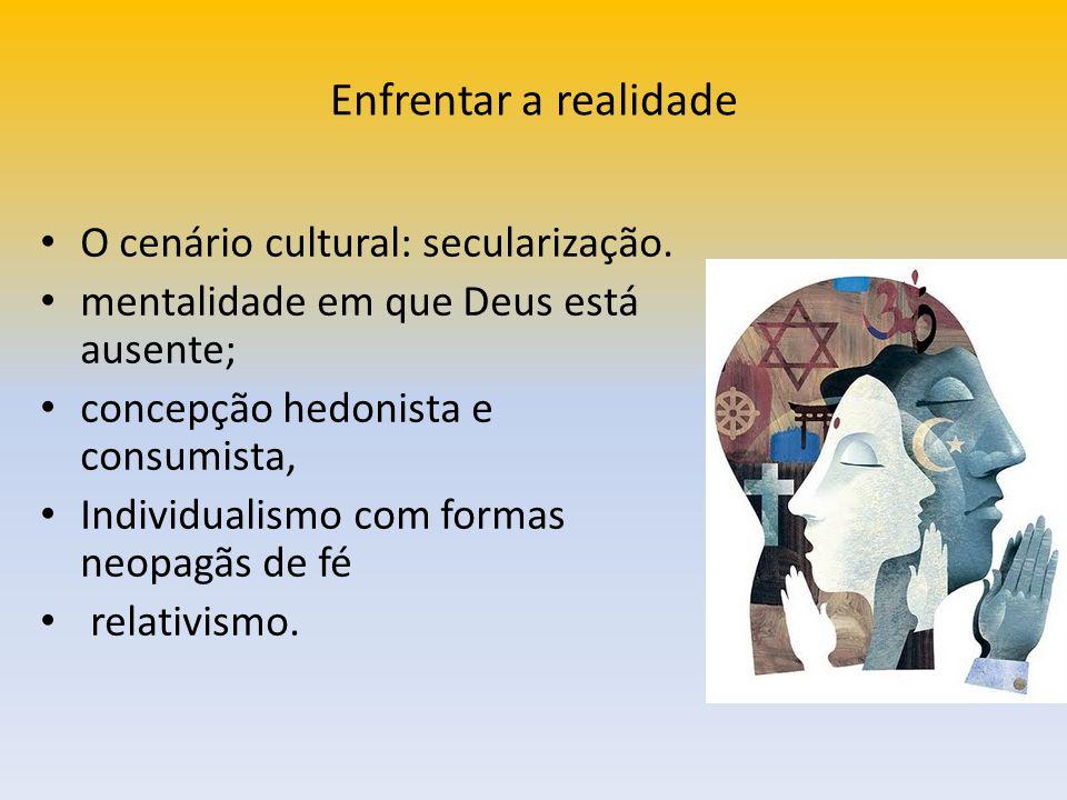 Enfrentar a realidade O cenário cultural: secularização.