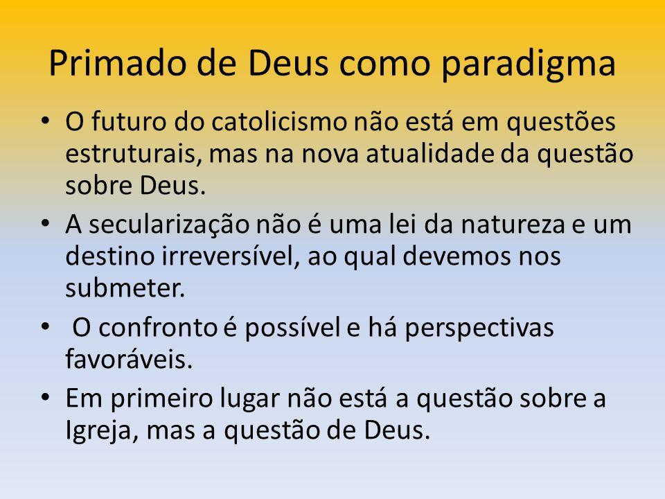 Primado de Deus como paradigma