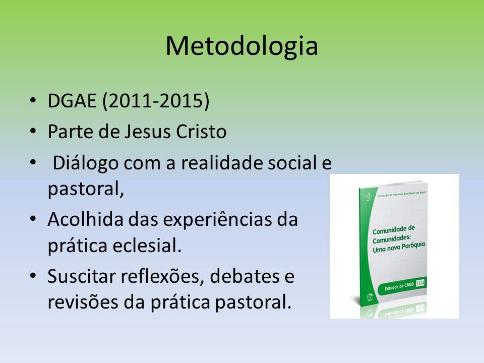 Metodologia DGAE (2011-2015) Parte de Jesus Cristo