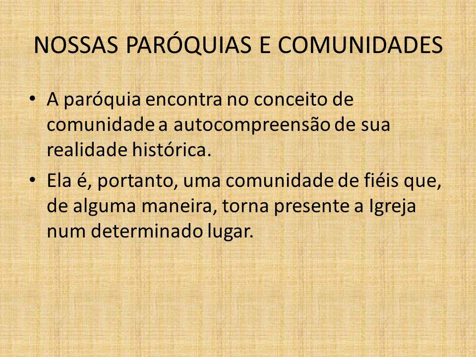 NOSSAS PARÓQUIAS E COMUNIDADES