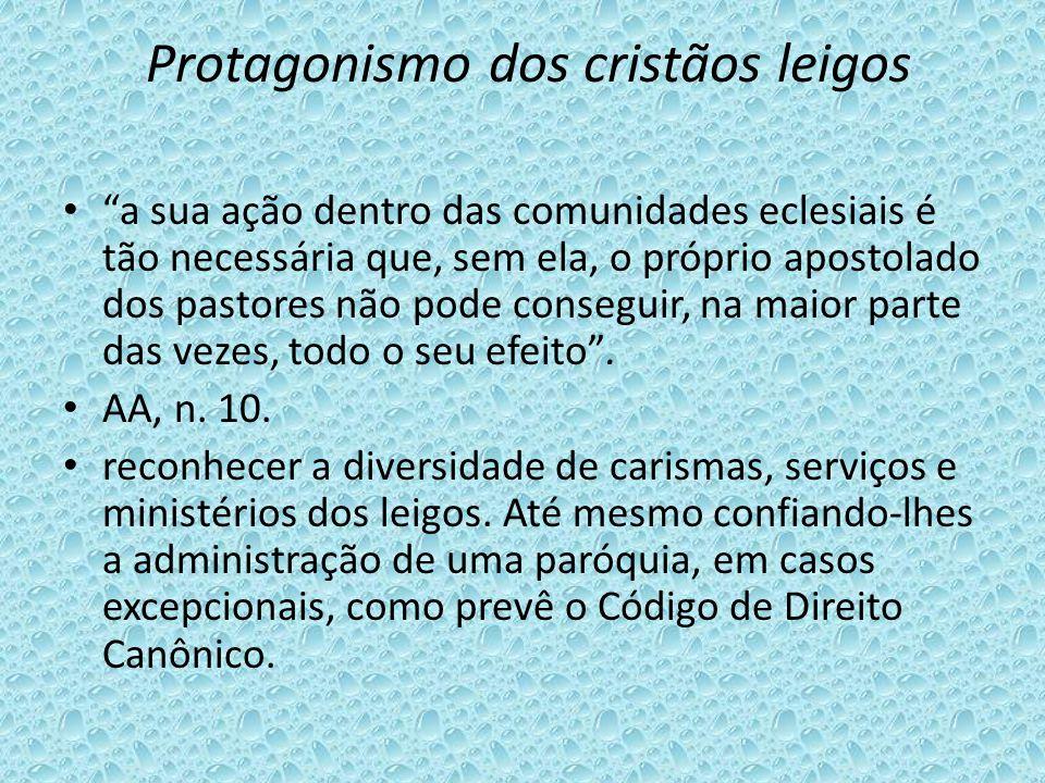 Protagonismo dos cristãos leigos