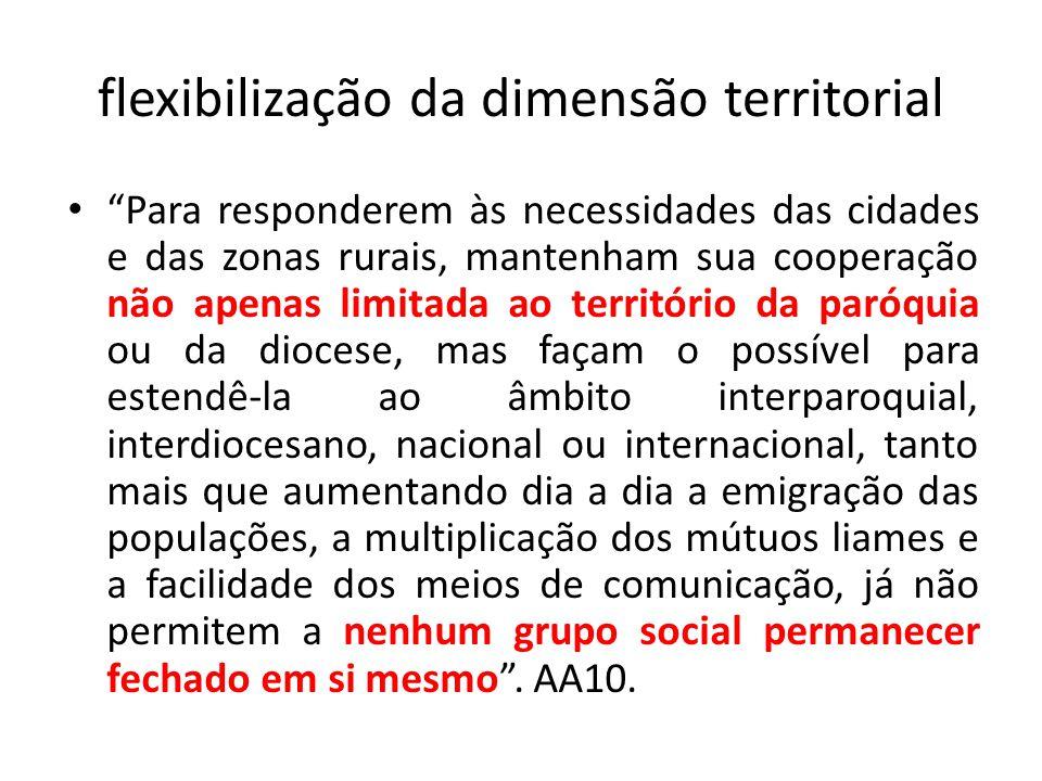 flexibilização da dimensão territorial