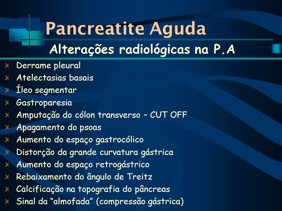 Alterações radiológicas na P.A
