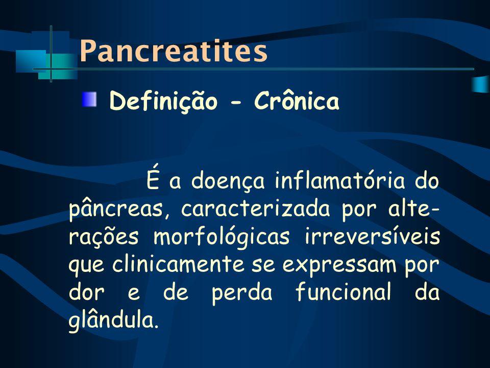Pancreatites Definição - Crônica