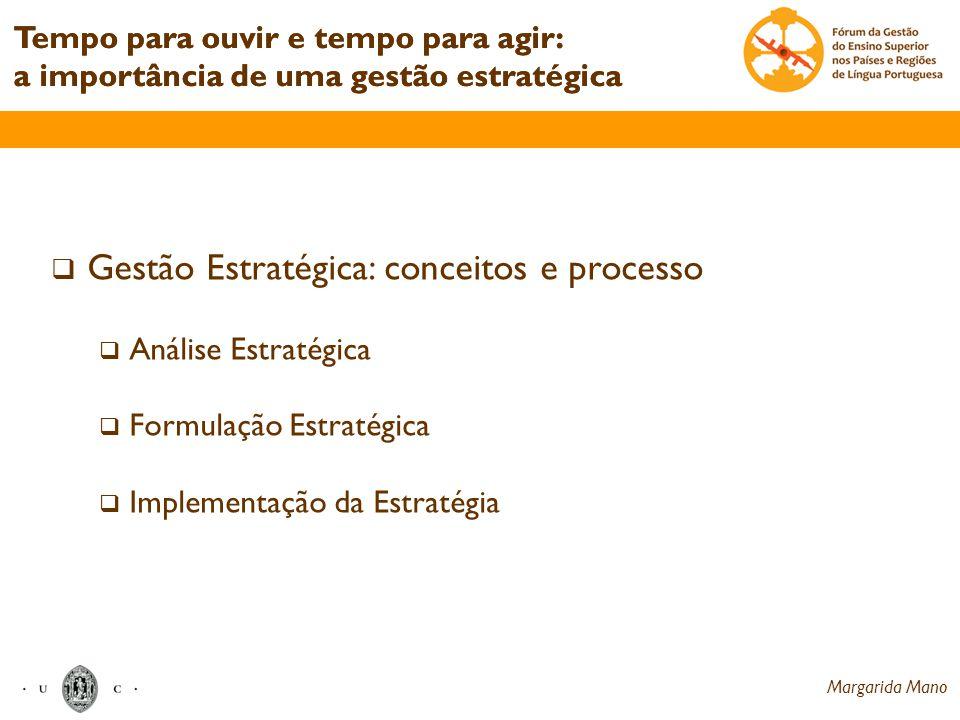 Gestão Estratégica: conceitos e processo