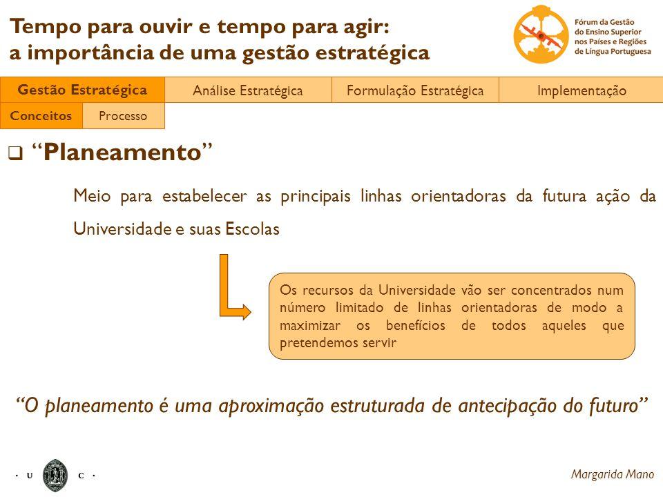 Gestão Estratégica Análise Estratégica. Formulação Estratégica. Implementação. Conceitos. Processo.