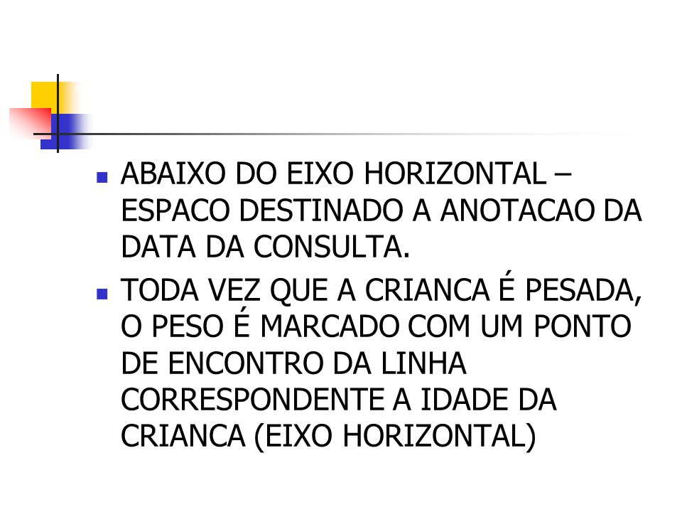 ABAIXO DO EIXO HORIZONTAL – ESPACO DESTINADO A ANOTACAO DA DATA DA CONSULTA.