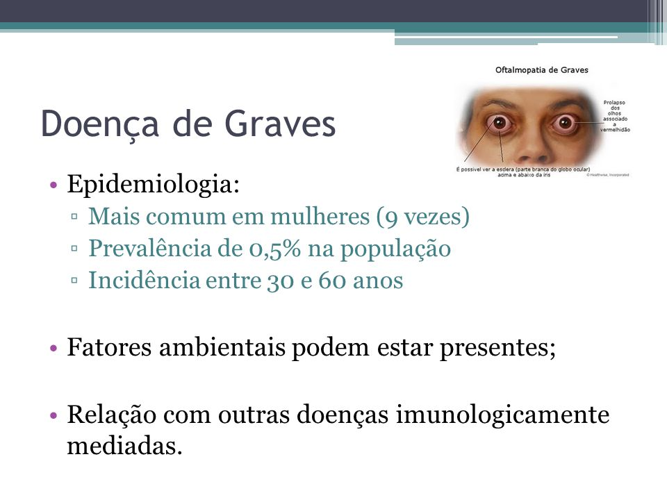 Doença de Graves Epidemiologia: