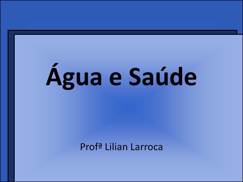 Água e Saúde Profª Lilian Larroca